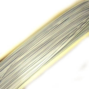 Tigertail Beading Wire, Very Light Grey/White