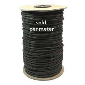 2.3mm Waxed Cotton Cord - Black