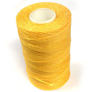 1mm Braided Waxed Cord, Canary Yellow