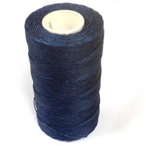 1mm Braided Waxed Cord, Dark  Blue
