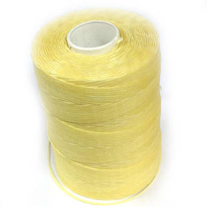 1mm Braided Waxed Cord, Light Lemon Yellow