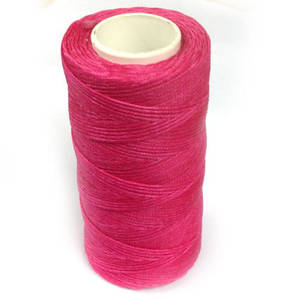 1mm Braided Waxed Cord, Deep Pink