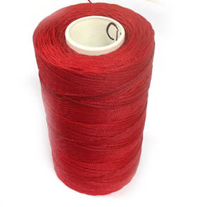 1mm Braided Waxed Cord, Red