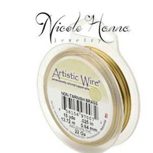 Wire Pack for Nicole Hanna Project: Artistic Wire Gold (non tarnish brass)