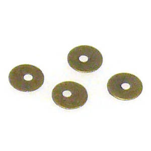 Metal Spacer: thin brass sequin, 4mm